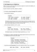 Englisch, Grammatik, Adjektive / adjectives, Adjectives, komparativ, steigerungsformen, Adjektive