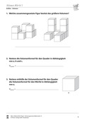 Mathematik, Raum & Form, Körperberechnung, einheitsquader, volumenberechnung