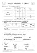 Mathematik, Größen & Messen, Zahlen & Operationen, umrechnen, Bruchrechnung, Stellenwertsystem, dezimalschreibweise