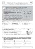 Mathematik, Zahlen & Operationen, Dezimalzahlen, periodenzahl, dezimalschreibweise