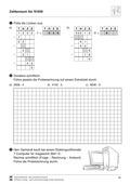 Mathematik, Zahlen & Operationen, schriftliches Rechnen, zahlenraum bis 10000, schriftliches dividieren, sachaufgaben