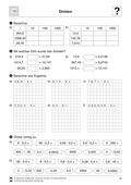 Mathematik, Zahlen & Operationen, Grundrechenarten, Dezimalzahlen, Division