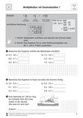 Mathematik, Grundrechenarten, Zahlen & Operationen, Multiplikation, Dezimalzahlen, Algebra, Rechenwege