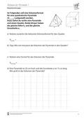 Mathematik, Raum & Form, Körperberechnung, Volumen bestimmen, Pyramide