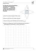 Mathematik, Raum & Form, Körperberechnung, Oberfläche, Pyramide