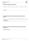 Mathematik, Daten, Zufall & Wahrscheinlichkeit, Datenauswertung, Mittelwert, Diagramm, daten und zufall, mittlere abweichung, standardabweichung