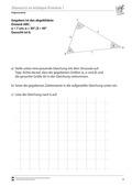 Mathematik, Geometrie, Trigonometrie, Sinussatz, dreiecke