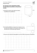 Mathematik, Raum & Form, Körperberechnung, Zylinder, Oberfläche