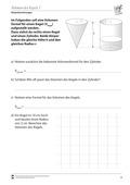 Mathematik, Raum & Form, Körperberechnung, Volumen bestimmen, Kegel, kegelvolumen, Volumen