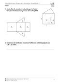 Mathematik, Raum & Form, Körperberechnung, Prisma, Oberfläche