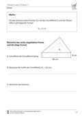 Mathematik, Raum & Form, Körperberechnung, Prisma, Volumen bestimmen, Volumen