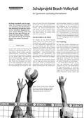 Sport_neu, Sekundarstufe I, Sekundarstufe II, Spielen, Volley spielen, Rückschlagspiele, Volleyball, Freizeit, Event, Thema, Sand, Taktik, Technik, Angriff