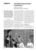 Sport, Ballsport, Handball, kooperation, diskussion, schülerorientiert