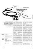 Fehlertherapie, lernmethode, Strategie