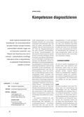 Englisch, Kompetenzen, Diagnose