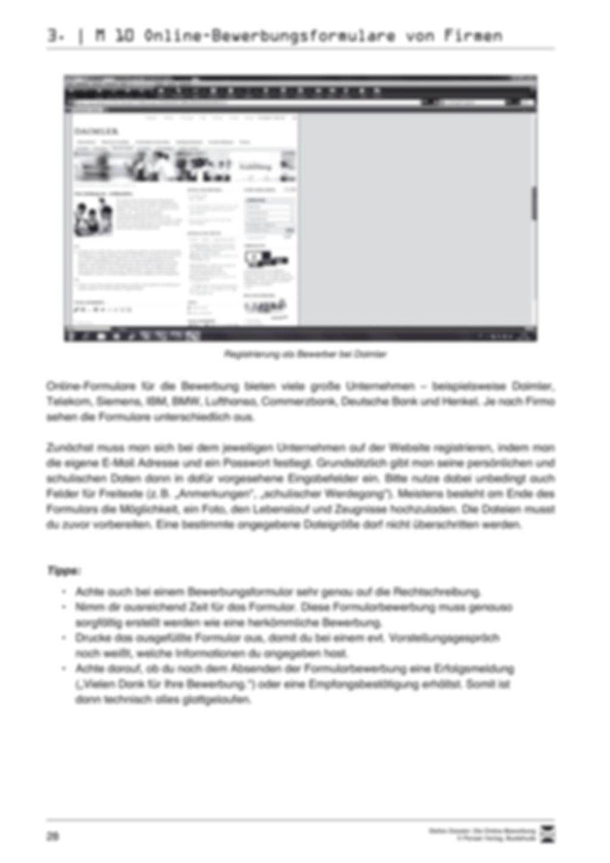 Der Online-Stellenmarkt + Lehrerhinweise Preview 5