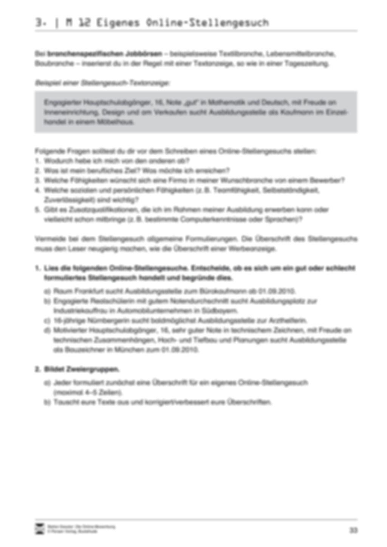 Der Online-Stellenmarkt + Lehrerhinweise Preview 10
