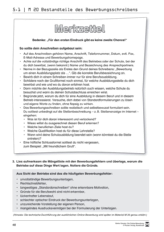 Eine ausführliche Onlinebewerbung schreiben + Lehrerhinweise Preview 6