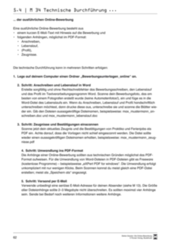 Eine ausführliche Onlinebewerbung schreiben + Lehrerhinweise Preview 20