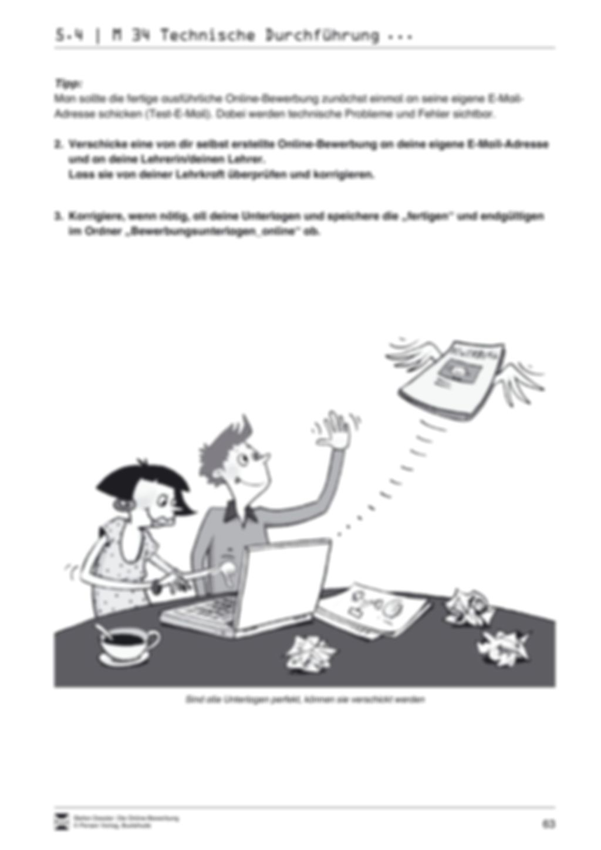 Eine ausführliche Onlinebewerbung schreiben + Lehrerhinweise Preview 21