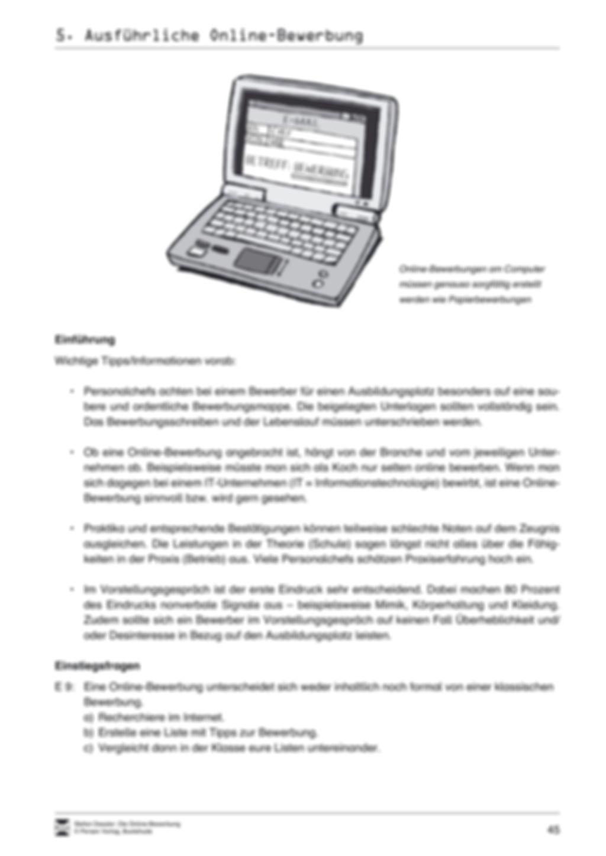 Eine ausführliche Onlinebewerbung schreiben + Lehrerhinweise Preview 3