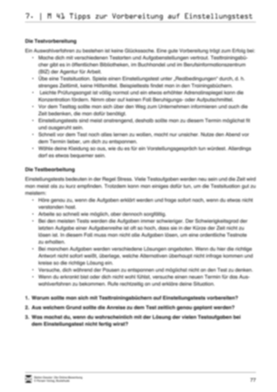 Alles Wichtige zum Einstellungstest + Lehrerhinweise Preview 3