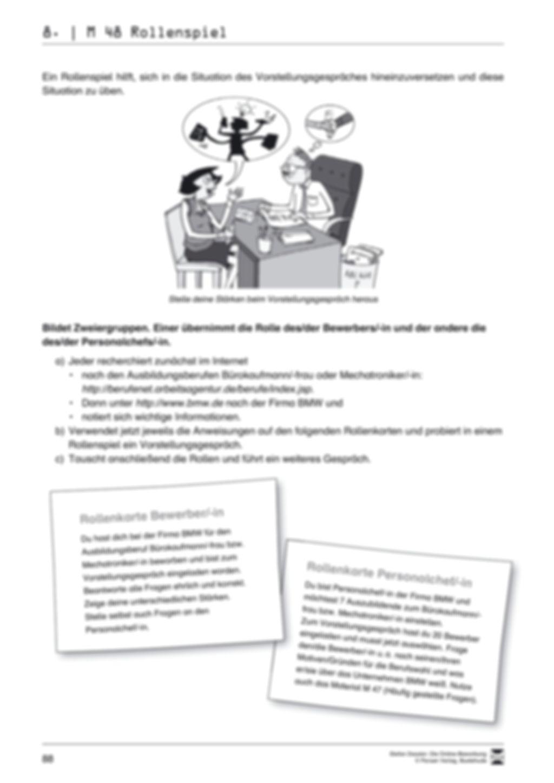 Alles Wichtige zum Vorstellungsgespräch + Lehrerhinweise Preview 8