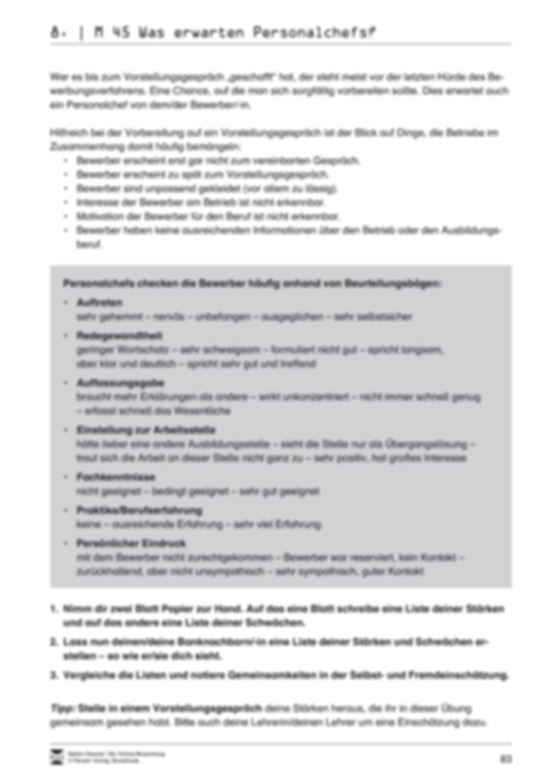 Alles Wichtige zum Vorstellungsgespräch + Lehrerhinweise Preview 3