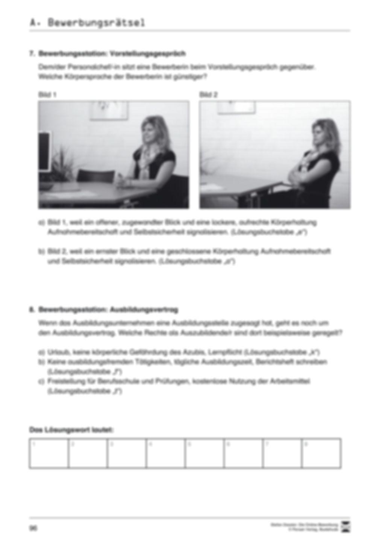 Kleines Wissensquiz rund um das Thema Bewerbungen mit Lösungen + Lehrerhinweise Preview 4