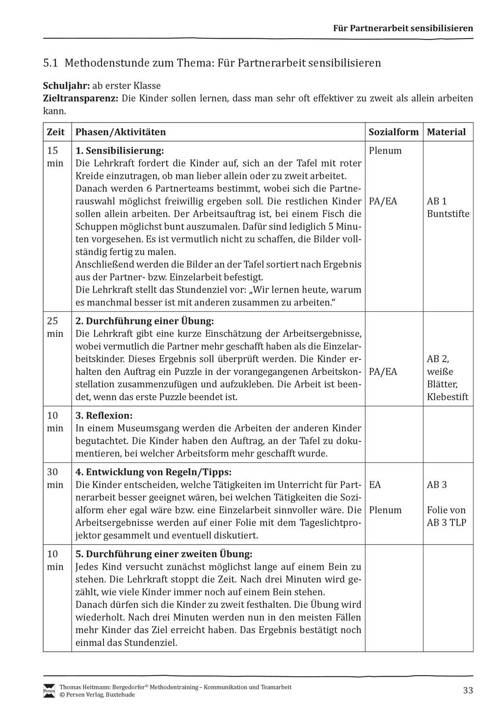 Methodentraining: Gelingende Partnerarbeit Preview 1