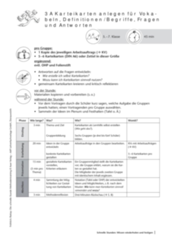 Methodenkompetenz: Karteikarten anlegen Preview 2