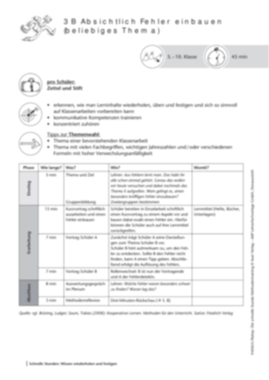 Methodenkompetenz: Gezielt Fehler einbauen Preview 2