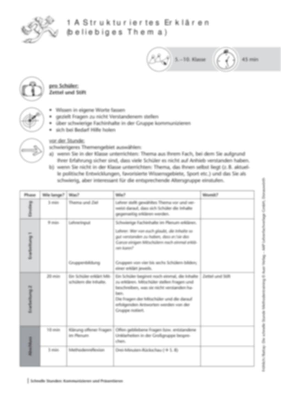 Methodenkompetenz: Strukturiertes Erklären Preview 2