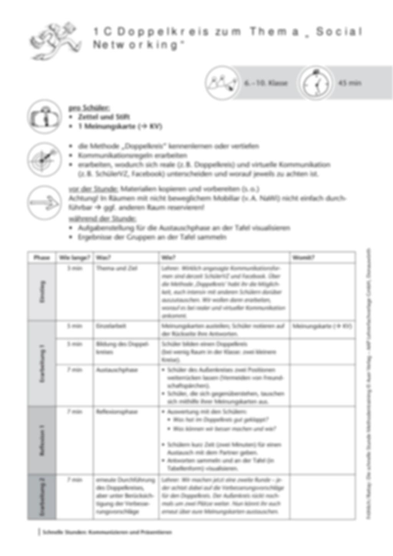 Methodenkompetenz: Der Doppelkreis Preview 2
