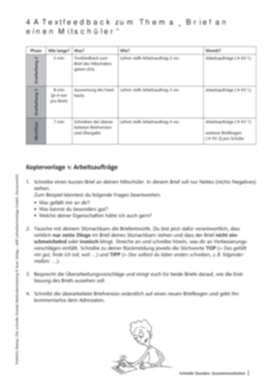 Methodenkompetenz: Feedback zu einem geschriebenen Text Preview 3