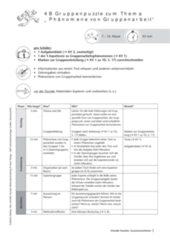 Methodenkompetenz: Gruppenpuzzle Preview 2