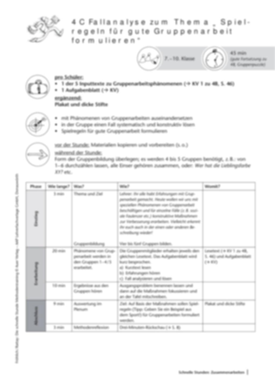 Methodenkompetenz: Spielregeln für die GA erarbeiten Preview 2