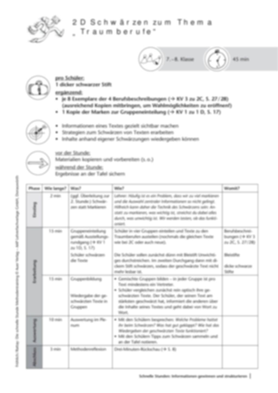 Methodenkompetenz: Schwärzen in Texten Preview 2