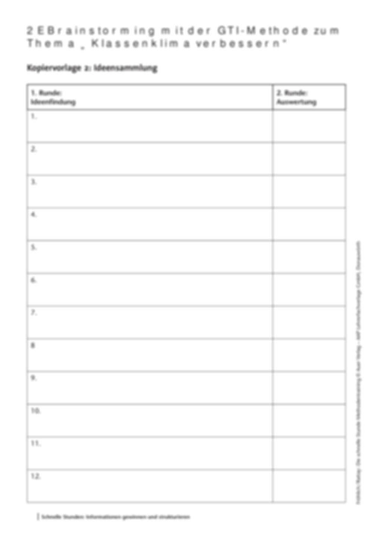 Methodenkompetenz: Brainstorming mit der GTI-Methode Preview 4