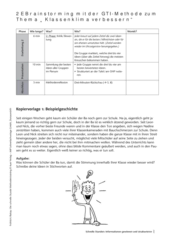Methodenkompetenz: Brainstorming mit der GTI-Methode Preview 3