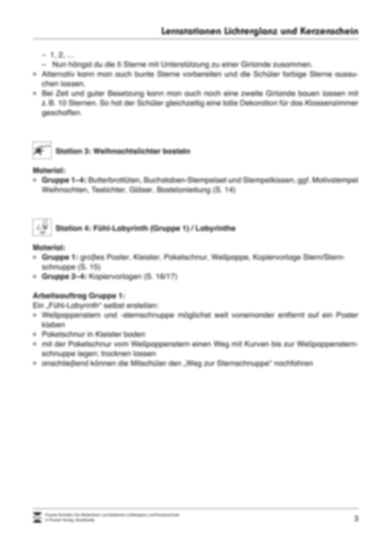 Stationen- bzw. Gruppenarbeit zum Thema Weihnachten + detaillierte Materialliste für die Stationen Preview 2