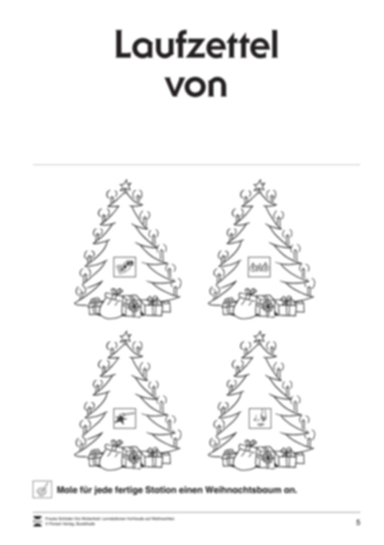 Stations-/Gruppenarbeit zum Thema Weihnachten mit verschiedenen Fächerschwerpunkten Preview 5