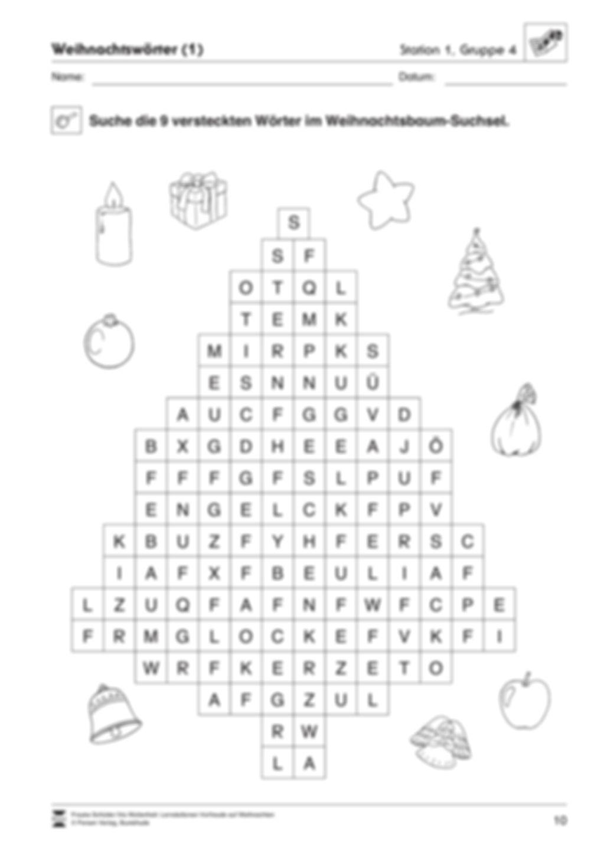 Stations-/Gruppenarbeit zum Thema Weihnachten mit verschiedenen Fächerschwerpunkten Preview 10