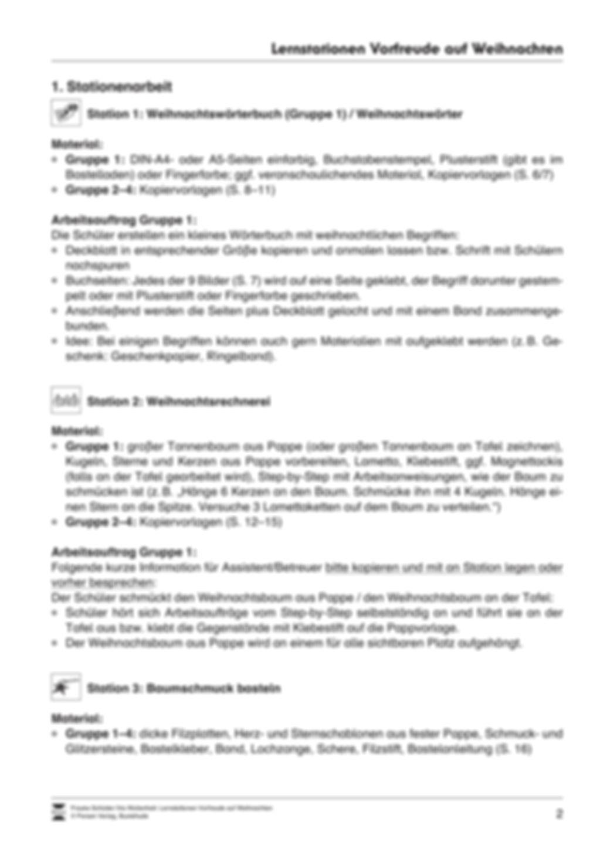 Stations-/Gruppenarbeit zum Thema Weihnachten mit verschiedenen Fächerschwerpunkten Preview 2