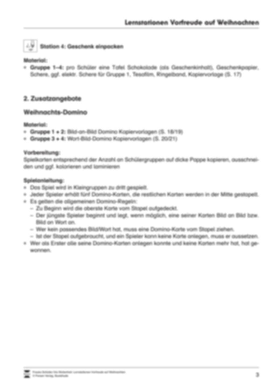 Stations-/Gruppenarbeit zum Thema Weihnachten mit verschiedenen Fächerschwerpunkten Preview 3