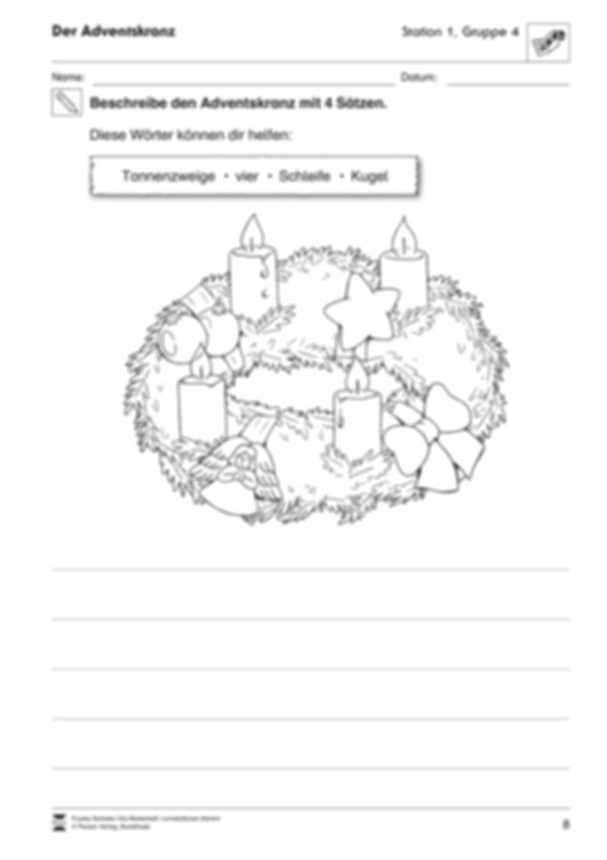 Lernstatt Advent: Der Adventskranz Preview 4
