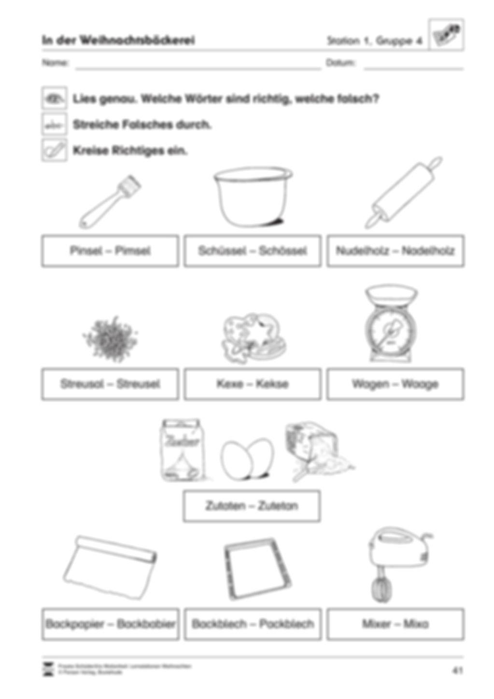 Stationsarbeit zum Thema Weihnachtsbäckerei Preview 9