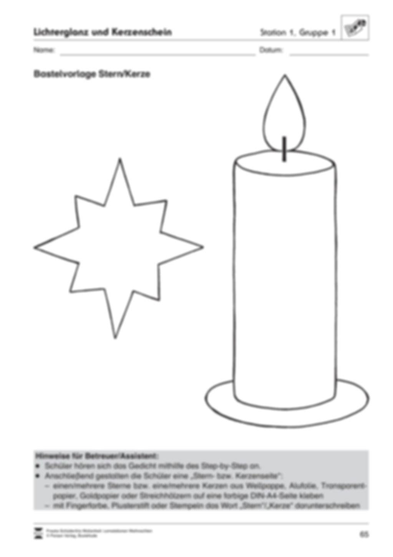 Stationsarbeit zum Thema Lichterglanz und Kerzenschein Preview 5