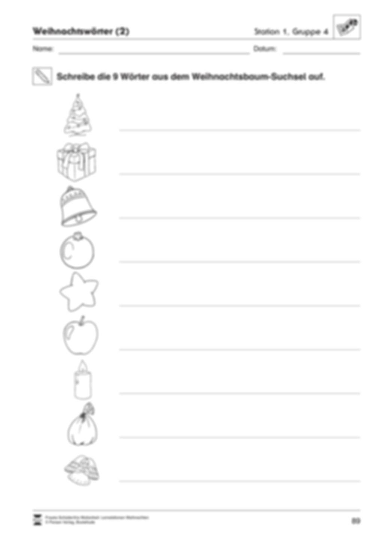 Stationsarbeit zum Thema Vorfreude auf Weihnachten Preview 10