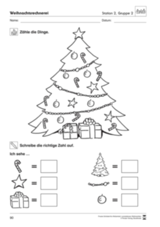 Stationsarbeit zum Thema Vorfreude auf Weihnachten Preview 11